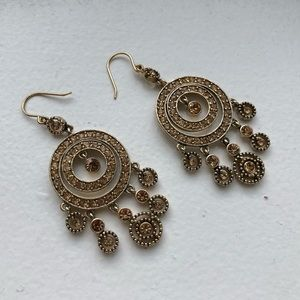 Jewelry - Bronze Rhinestones Earrings